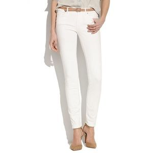 Madewell Skinny Skinny White Stretch Denim Jeans